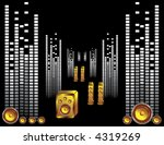 speaker and music vector