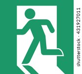 fire exit sign . vector... | Shutterstock .eps vector #431927011