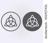 celtic trinity knot  symbol .... | Shutterstock .eps vector #431927431