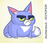 vector illustration of grumpy... | Shutterstock .eps vector #431929339