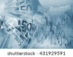 forex trading blue concept... | Shutterstock . vector #431929591