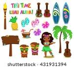 vector illustration hawaiian... | Shutterstock .eps vector #431931394