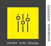 sliders sign line vector icon....