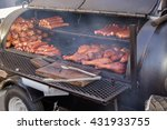 a smoker grill. a bbq party...
