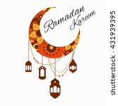 happy ramadan kareem  greeting... | Shutterstock . vector #431939395