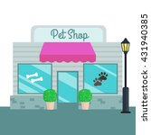 pet shops and stores front flat ... | Shutterstock .eps vector #431940385
