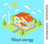 low energy house with wind... | Shutterstock .eps vector #431942551