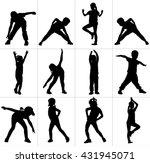 happy joyful kids  little boys... | Shutterstock .eps vector #431945071