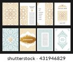 eastern gold template cards set.... | Shutterstock .eps vector #431946829