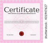 certificate template eps10 jpg... | Shutterstock .eps vector #431947627
