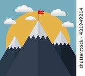 goal achievement  business... | Shutterstock .eps vector #431949214