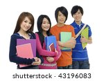 group of college or university... | Shutterstock . vector #43196083