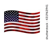 american flag on white... | Shutterstock .eps vector #431963941