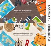travel tourism vector... | Shutterstock .eps vector #431967001