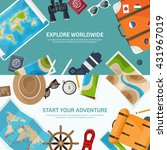 travel tourism vector... | Shutterstock .eps vector #431967019