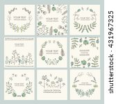 vector set  floral wreath and... | Shutterstock .eps vector #431967325