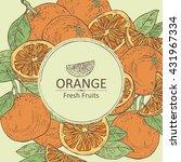 background with orange . hand...   Shutterstock .eps vector #431967334