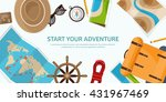travel tourism vector... | Shutterstock .eps vector #431967469