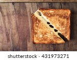 hot homemade sandwich with... | Shutterstock . vector #431973271