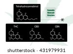 set of 4 molecular structure... | Shutterstock .eps vector #431979931