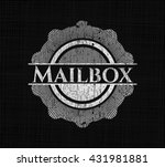 mailbox with chalkboard texture | Shutterstock .eps vector #431981881