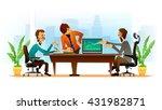 vector illustration of teamwork ... | Shutterstock .eps vector #431982871