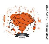 brain design. mind icon.... | Shutterstock .eps vector #431994985