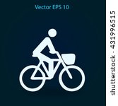 flat cyclist icon | Shutterstock .eps vector #431996515
