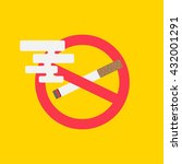 no smoking vector illustration. ... | Shutterstock .eps vector #432001291