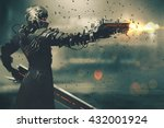 sci fi gaming character in... | Shutterstock . vector #432001924