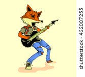 guitarist fox   Shutterstock .eps vector #432007255