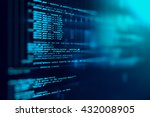 Stock photo programming code abstract technology background of software developer and computer script 432008905