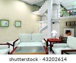 a living room in the villa   Shutterstock . vector #43202614