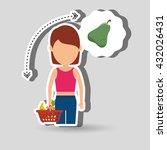 healthy food  design    Shutterstock .eps vector #432026431