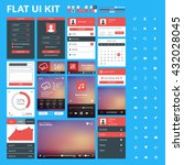 set of flat design ui elements... | Shutterstock .eps vector #432028045