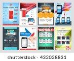 set of vector business flyer... | Shutterstock .eps vector #432028831