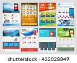 set of vector business flyer... | Shutterstock .eps vector #432028849