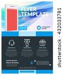 vector business design template ... | Shutterstock .eps vector #432033781