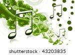 digital illustration of music... | Shutterstock . vector #43203835