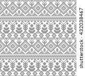 black and white ethnic... | Shutterstock .eps vector #432038467