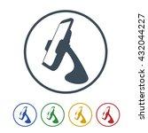 car cradles  mobile phone... | Shutterstock .eps vector #432044227