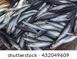 small mackerel fishes on shop... | Shutterstock . vector #432049609