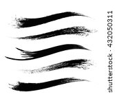 vector set of grunge brush... | Shutterstock .eps vector #432050311