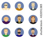 men avatar icons vector set.... | Shutterstock .eps vector #432051385