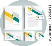 corporate identity design... | Shutterstock .eps vector #432053995