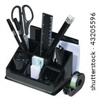 set of office accessories on a... | Shutterstock . vector #43205596