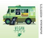 street food van. fast food... | Shutterstock .eps vector #432057271