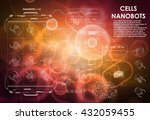 cell background with futuristic ... | Shutterstock .eps vector #432059455