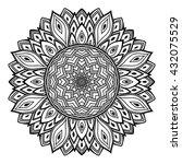vector beautiful mandala.... | Shutterstock .eps vector #432075529