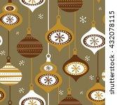 seamless christmas background... | Shutterstock .eps vector #432078115
